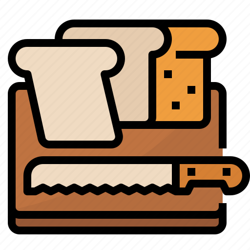 Bread, food, slice, wheat icon - Download on Iconfinder