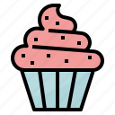bakery, cupcake, dessert, food icon