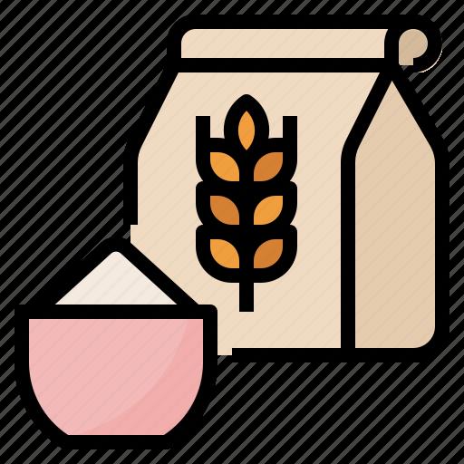 Flour, food, ingredient, powder icon - Download on Iconfinder