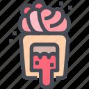 bakery, cupcake, dessert, sprinkles, sugar, sweet icon
