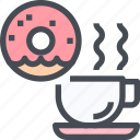 bakery, coffee, dessert, donut, sweet icon