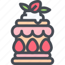 bakery, dessert, desserts, strawberry, sweet icon
