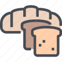 bakery, bread, breakfast, food, roe, toast icon