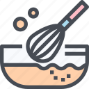 bakery, cooking, flour, food, kitchen, mix icon