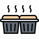 baker, bakery, bakeshop, food, muffin icon