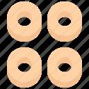 baker, bakery, bakeshop, cracknels, food, ring, shaped