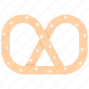 baker, bakery, bakeshop, food, pretzel icon
