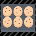 baker, bakery, bakeshop, baking, cookie, food, tray