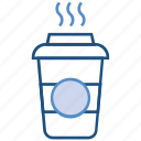 bakery, discussible glass, drink, glass, hot, hot coffee, shake icon