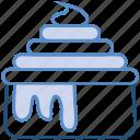 bakery, bowl, cream, custard, dessert, food, sweet icon