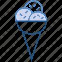 bakery, cone, cream, dessert, eating, ice cream, sweets icon