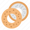 bagel, bake, beigel, food icon