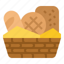 bake, basket, bread, bakery