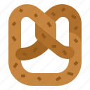 bake, bread, dough, pretzel icon