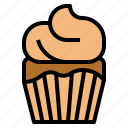 bakery, cupcake, dessert, food icon