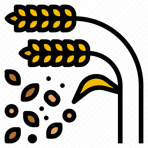 cereal, food, grain, healthy, wheat icon
