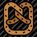 bake, bread, dough, pretzel