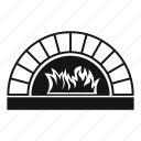 cooking, fire, food, object, oven, pizza, restaurant icon