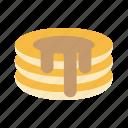 bakery, breakfast, dessert, food, kitchen, pancake, sweet icon
