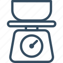 cooking, kitchen, scales, utensil, balance, kitchen scale, scale icon