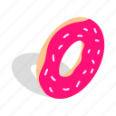 bakery, delicious, dessert, donut, food, isometric, sweet icon