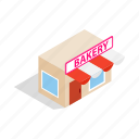 birthday, cream, food, isometric, pastry, shop, sweet icon