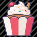cream, cake, sweet, cupcake