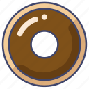 donut, doughnut, food