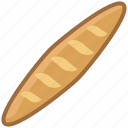 baguette, bakery, baking, food, meal, pastry, yumminky icon