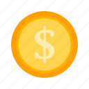 cent, coin, dollar, money icon