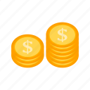 currency, finance, stack icon