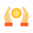 cash, donation, money, payment icon