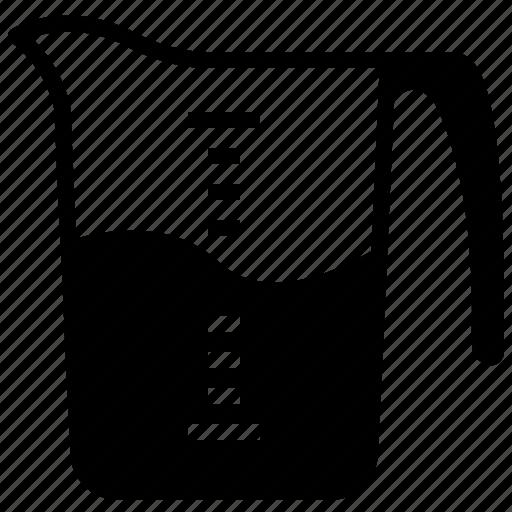 baking, kitchen, measure, measuring cup, milk, water, yumminky icon