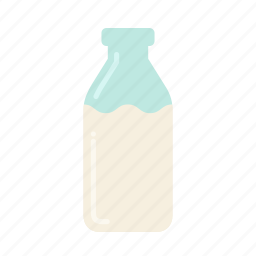 baking, bottle, color, dairy, food, ingredients, milk icon