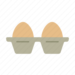 baking, carton, color, egg, eggs, food, ingredients icon