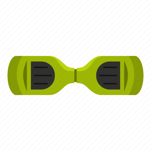 electrical, giroskuter, hoverboard, modern, scooter, top, view icon