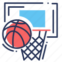backboard, basketball, basketball ball, hoop icon