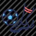 ball, foot, football, football boot
