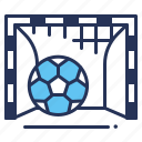 football, goal ball, goal post, net icon