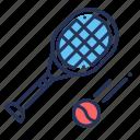 flying, racket, tennis, tennis ball
