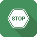 direction, end, sign, stop icon