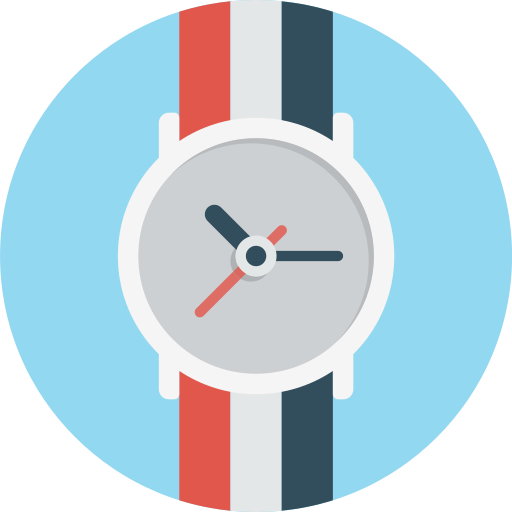 Time, watch, handwatch, han, clock icon
