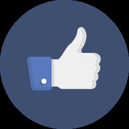 appreciate, facebook, like icon