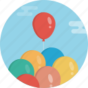 fly, baloon, baloons, day, birthday, event, celebrate