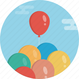 baloon, baloons, birthday, celebrate, day, event, fly icon