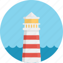 beacon, beam, guidance, guide, lighthouse, navigation, ocean, sea icon