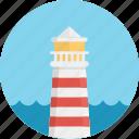 lighthouse, guidance, ocean, beam, beacon, sea, navigation, guide