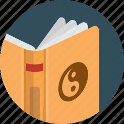 book, cover, open, read icon