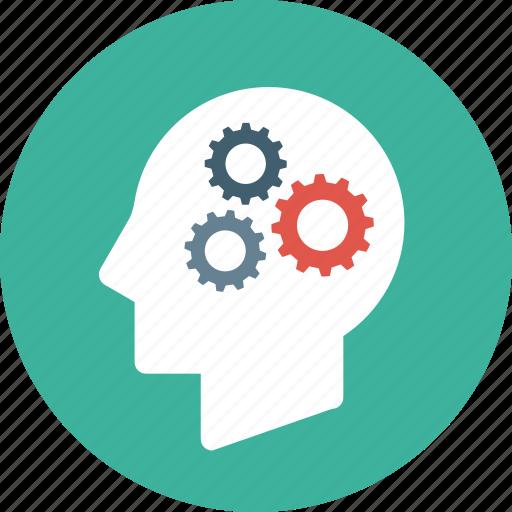 brain, brainstorm, brainstorming, creative, head, mind, settings, thinking icon