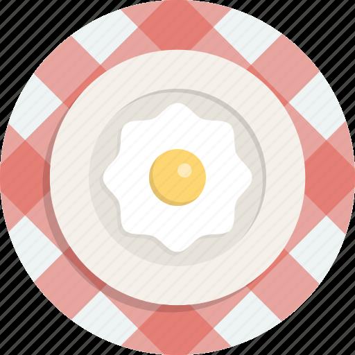 Food, fried egg, breakfast, egg icon